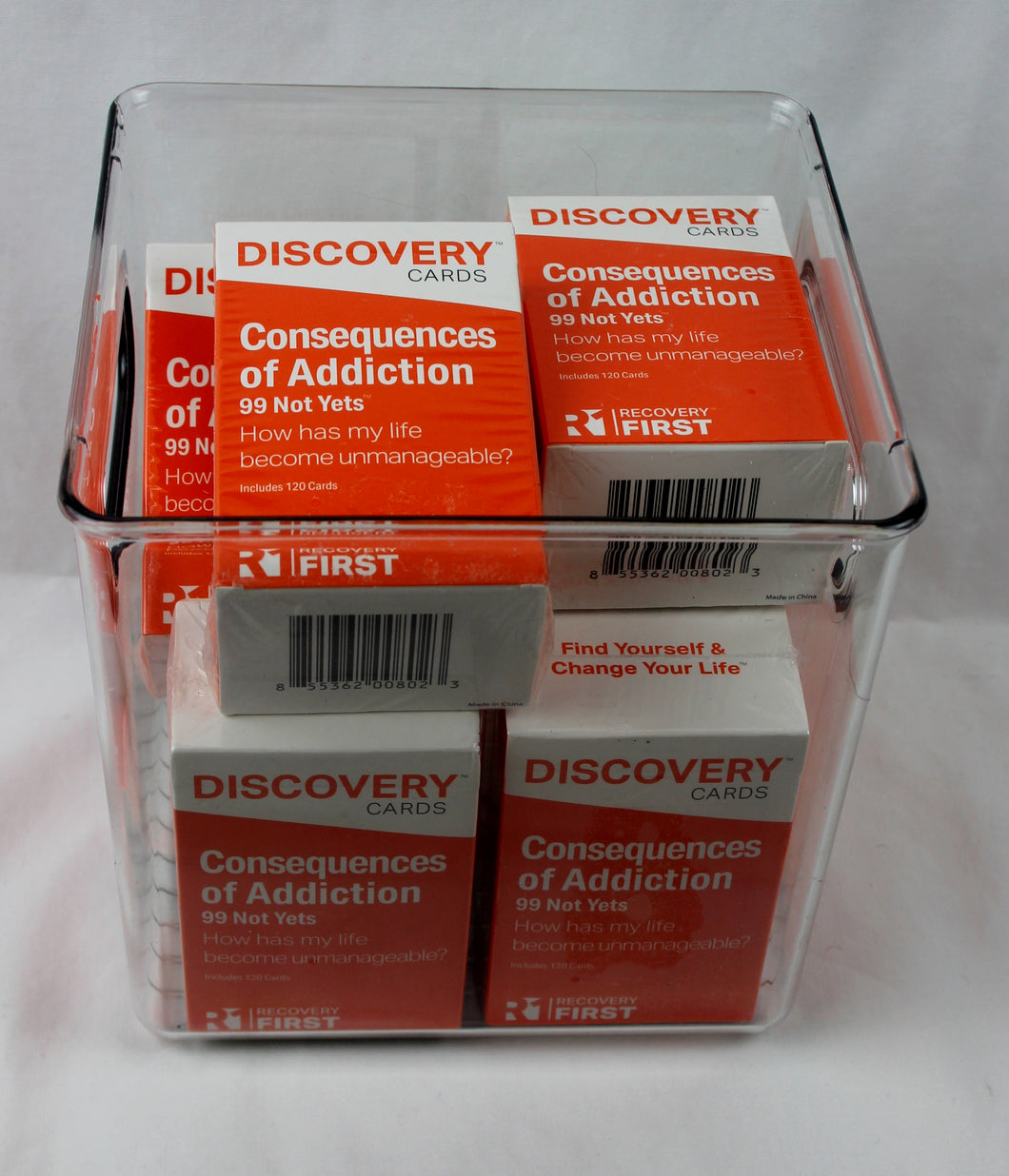 Discovery Cards Consequences of Addiction Bucket - 10 Decks