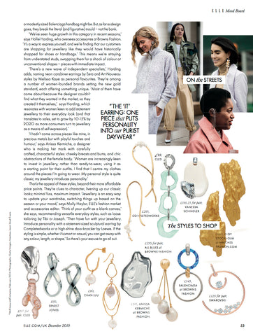 ELLE UK | CLED Eco Conscious Sustainable Upcycled Jewelry From glass bottles to jewelry Eco Luxury