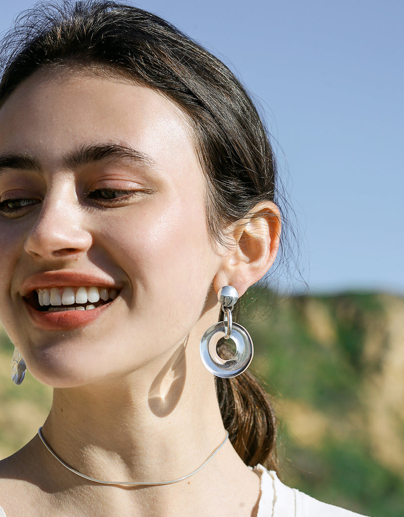 Opening Torus Earrings