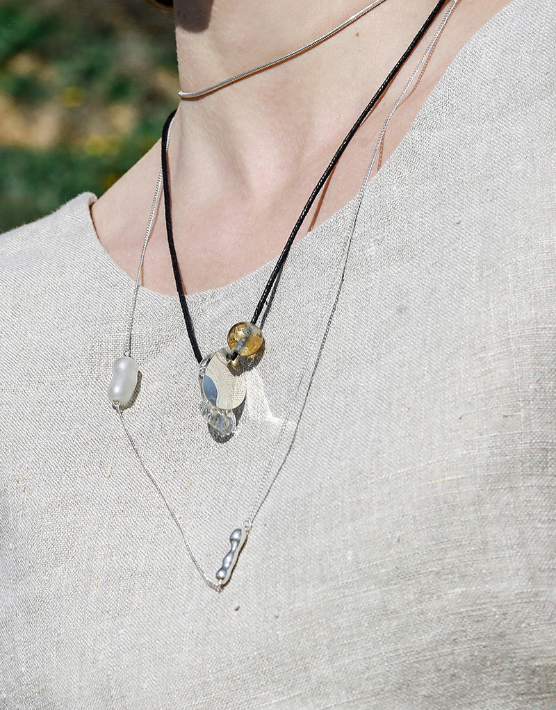 Amorphous Long Cluster Necklace