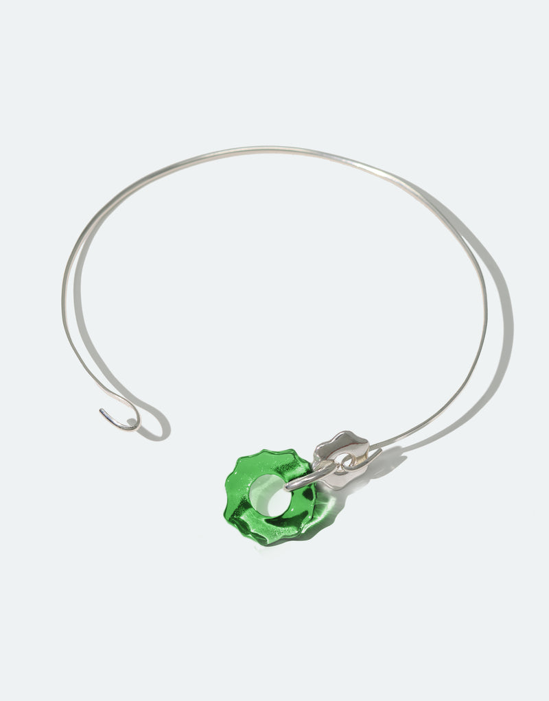 CLED Eco Conscious Sustainable upcycled jewelry made from Eco Gems and sterling silver from recycled glass | Avens Choker Necklace