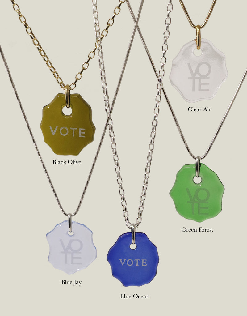 Message | VOTE Necklace with Snake Chain