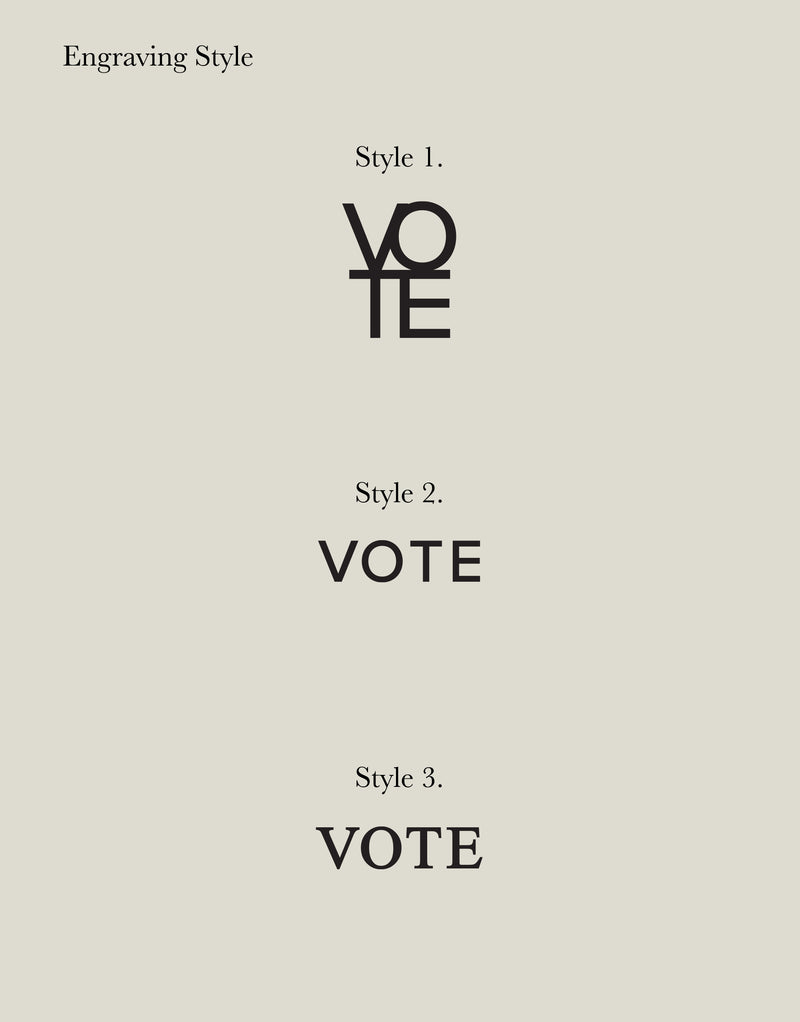Message | VOTE Necklace with Rolo Chain