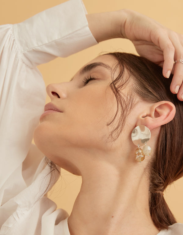 Amorphous and Pearl Earrings