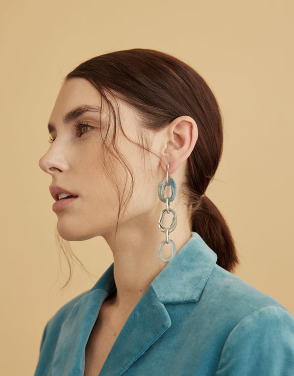 Connected Loop Earrings