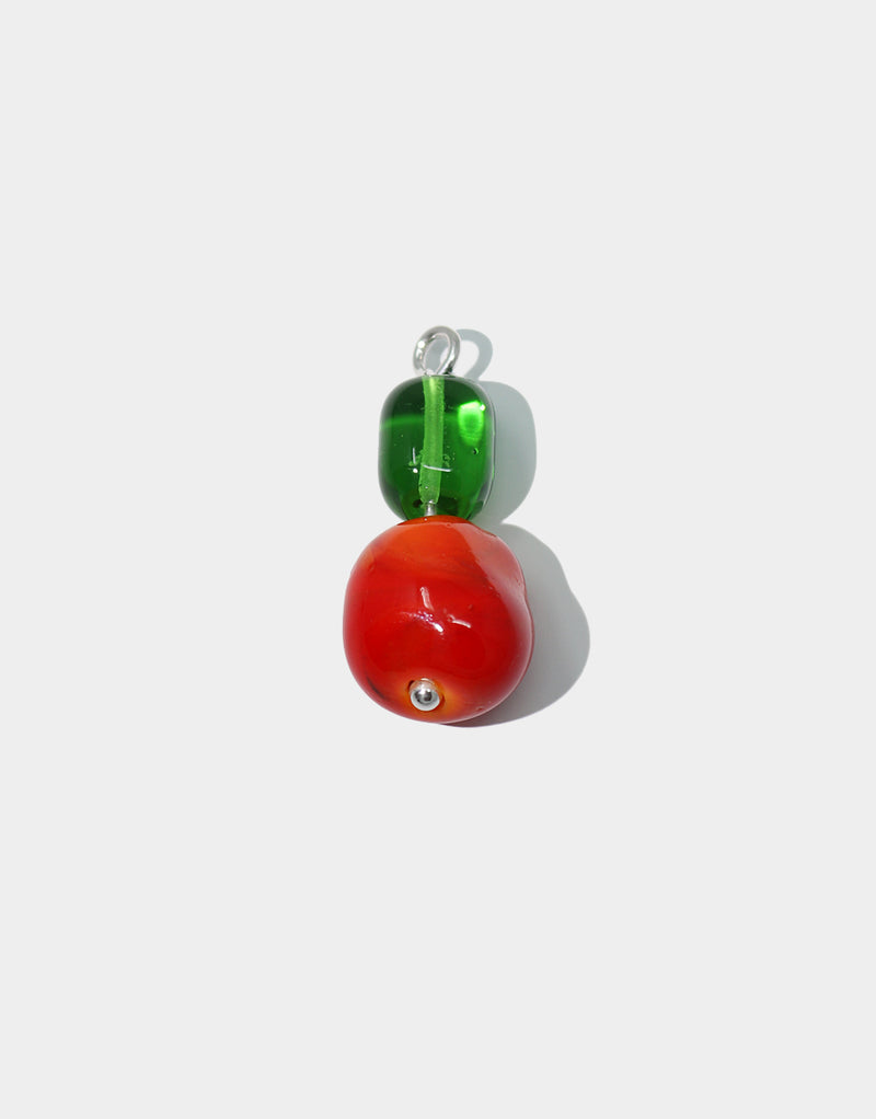 CLED Mix and Match Earrings Coral Green upcycled glass sterling silver from recycled glass sustainable jewelry