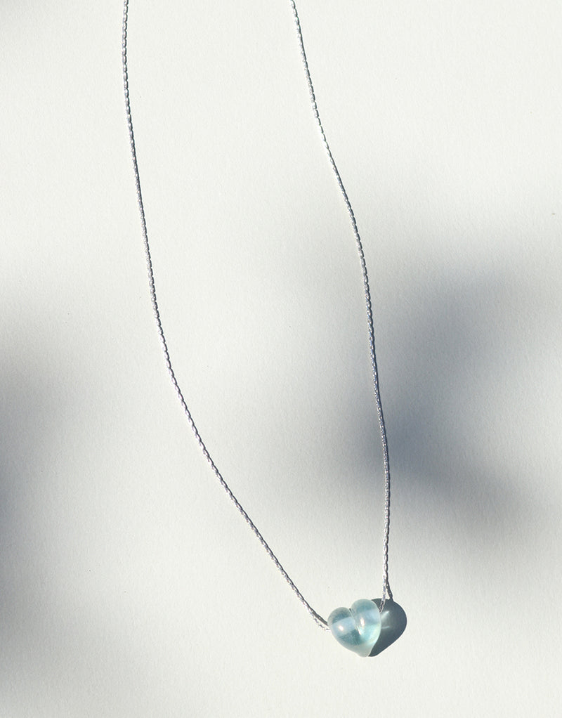 CLED Eco Conscious Sustainable upcycled jewelry made from Eco Gems and sterling silver from recycled glass | Love Necklace