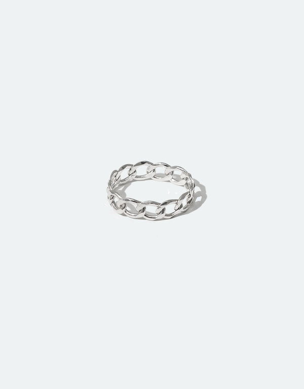CLED Eco Conscious Sustainable upcycled jewelry made from Eco Gems and sterling silver from recycled glass | Collapsible Chain Ring