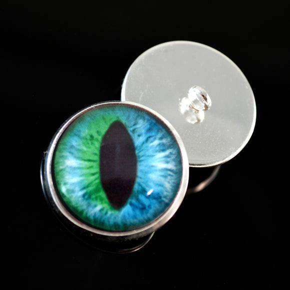 Sew On Button Glass Eyes