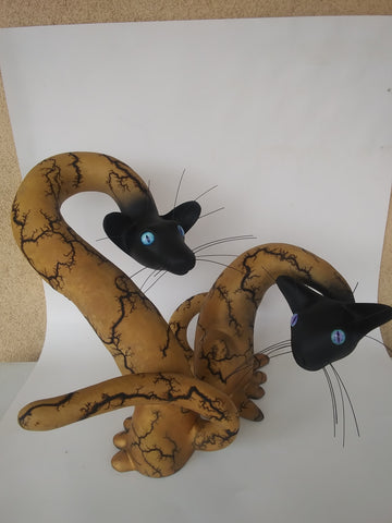 sculpture with glass eyes