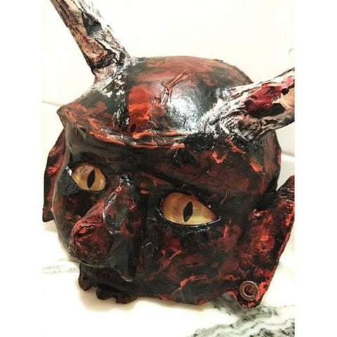 demon wall mask by catherine with glass eyes