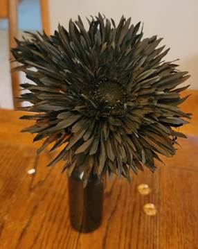 fake flowers for Halloween craft project