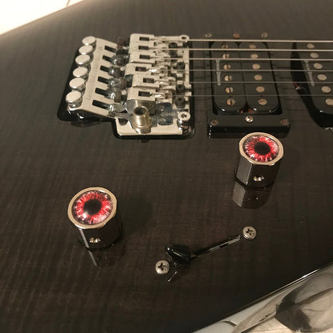re demon instrument knobs on guitar
