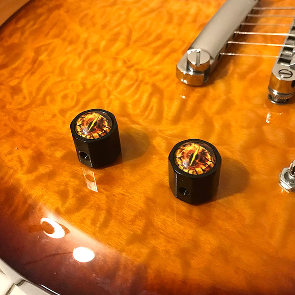 guitar knobs with dragon eyes