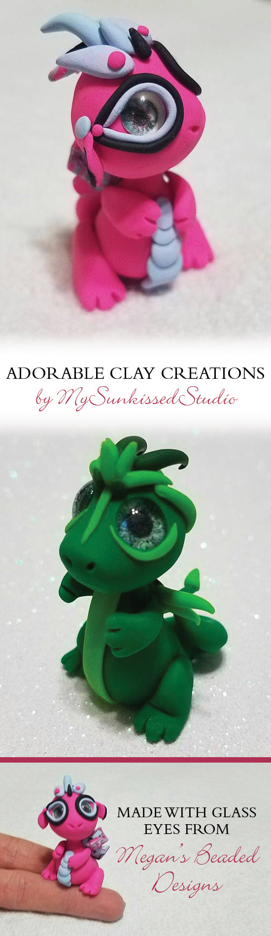 little clay dragons by mysunkissedstudio