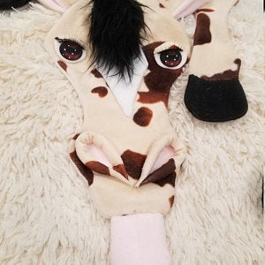 handmade horse scarf with glass eyes