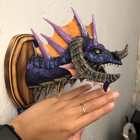 small dragon trophy sculpture