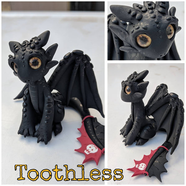 toothless-polymer-clay-dragon