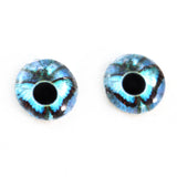 blue butterfly glass eyes