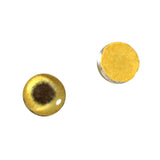10mm gold metallic glass eye