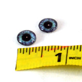 10mm Purple and Teal Clockface Steampunk Glass Eyes