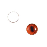 10mm red fox glass eyes