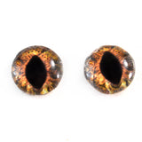 Steampunk Brown Dragon or Cat Glass Eyes