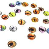 12 Pairs of 8mm Dragon Glass Eyes