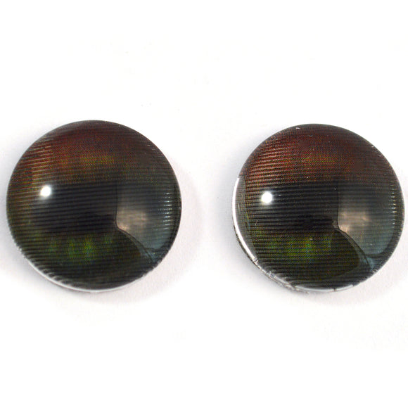 16mm Dark Color Changing Animated Horse Glass Eyes