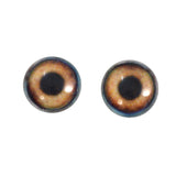 16mm brown dog glass eyes