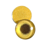 16mm gold metallic glass eye