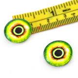 16mm Green and Yellow Monster Glass Eyes