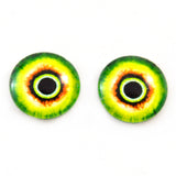 Green and Yellow Monster Glass Eyes
