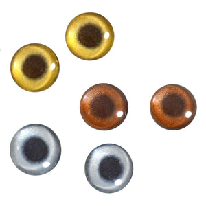 16mm metallic glass eyes
