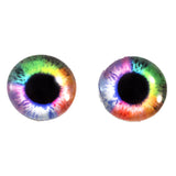 Colorful Rainbow Glass Eyes