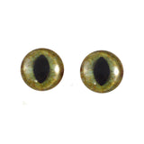 16mm realistic green and brown cat eyes