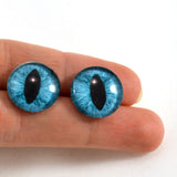 16mm Teal Cat Glass Eyes