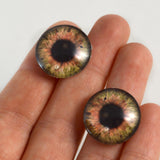 20mm Brown Clockface Steampunk Glass Eyes