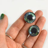 20mm Green and Blue Human Glass Eyes