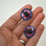 20mm Blue and Red Fantasy Glass Eyes
