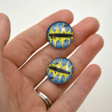 20mm Blue and Yellow Fantasy Dragon Glass Eyes