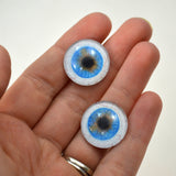 20mm Blue Human Glass Eyes with Whites