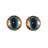 Brown and Teal Cat Glass Eyes