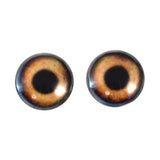20mm brown dog glass eyes