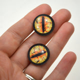 20mm Yellow and Orange Dragon Glass Eyes
