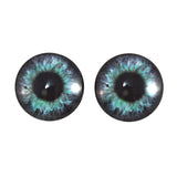 Purple and Teal Clockface Steampunk Glass Eyes