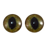 20mm realistic green and brown cat eyes