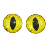 Yellow Dragon or Cat Glass Eyes