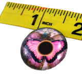 25mm Pink Butterfly Glass Eye