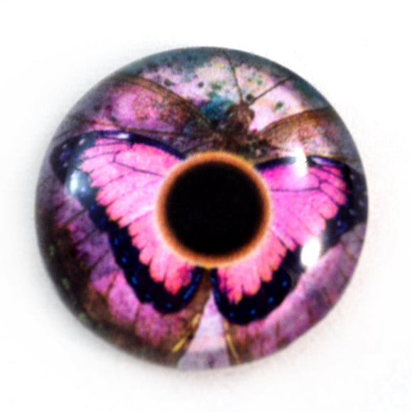 Pink Butterfly Glass Eye